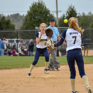 Helen Throws to Katie at Second