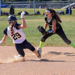 Katie Reed Steals Second Base