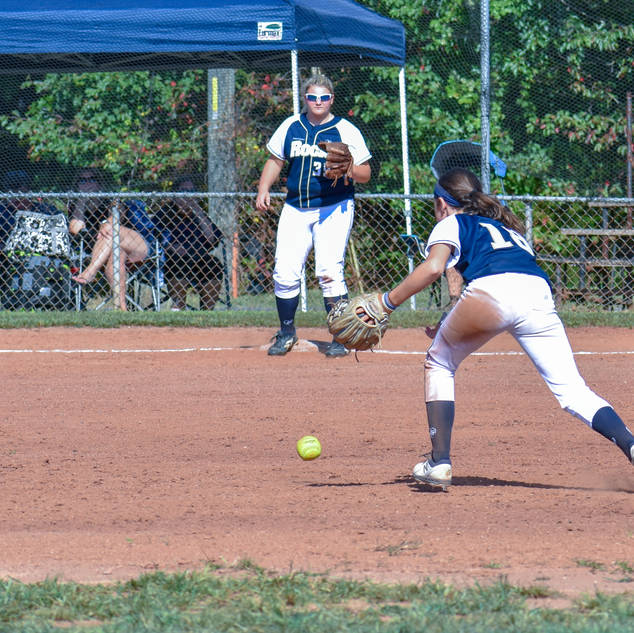 Ava Goes for a Ground Ball