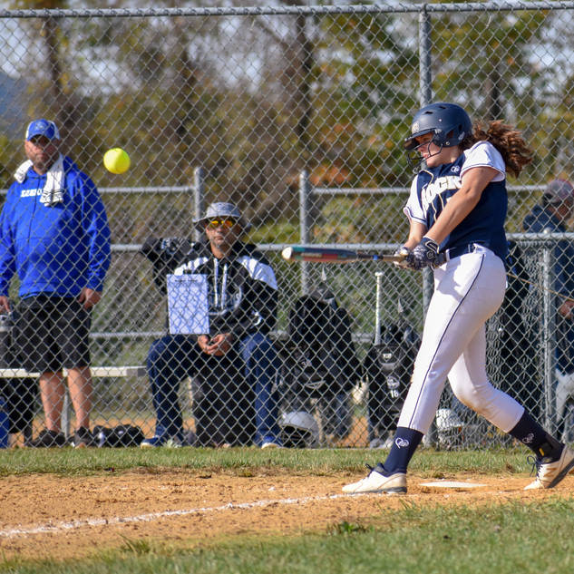 Violet Marta Gets a Hit Against the Delco Diamonds
