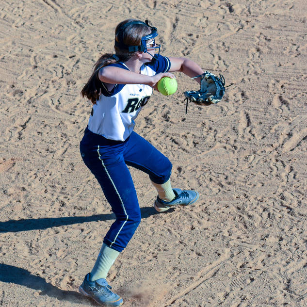 Jenna Morrison Throws from Third Base