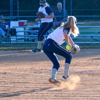 Helen Woloshyn Makes a Play at Short Stop