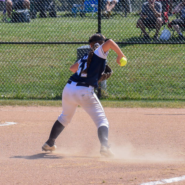 Abbey Valente Makes the Play at Third