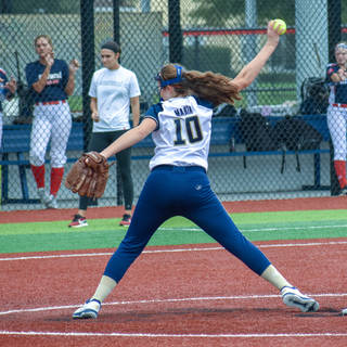 Violet Marta Pitching against the Marucci Patriots