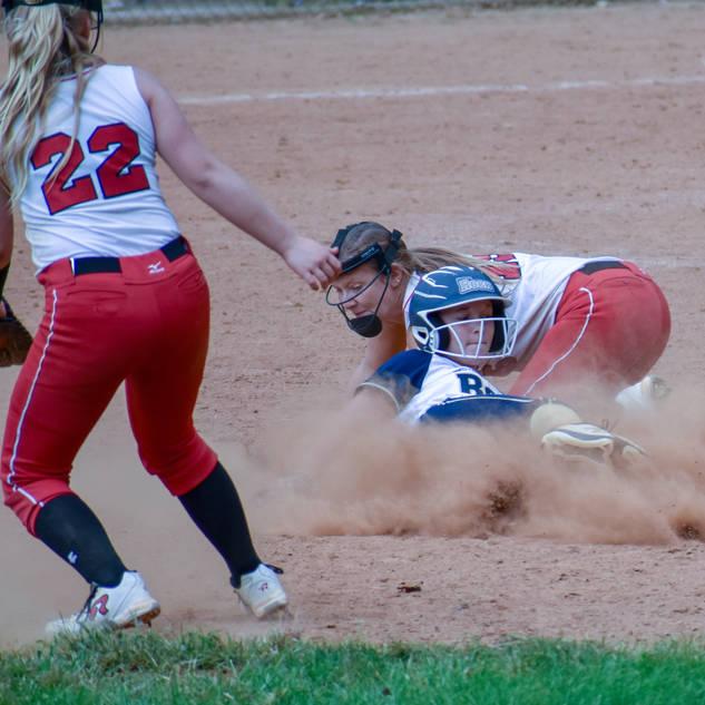 Alayna Slides into Second Base