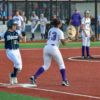 Angelina Benitez Beats the Throw to First