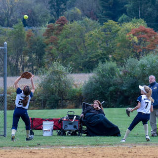 Jenna Morrison Catches a Fould Ball