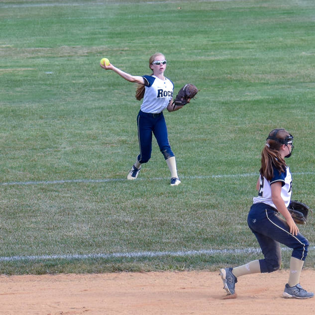 Katie Reed Throws a Batter Out