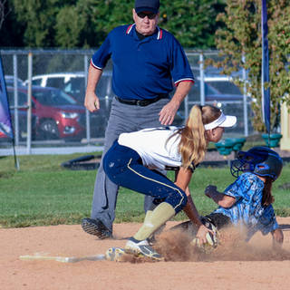 Helen Tags the Chaos Runner Out at Second