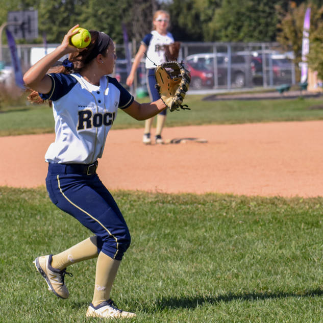 Alayna Giampolo Plays a Ball in Out FieldLeft Fie