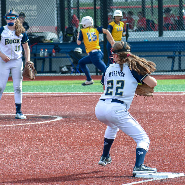 Jenna Tags Third and Tries for a Double Play