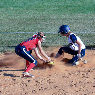 Helen Woloshyn is Safe at Second Base