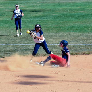 Ava Mahnken Makes the Out at Second