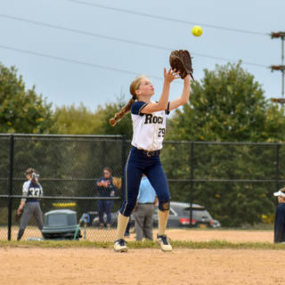 Katie Reed Catches a Pop Up at Second Base