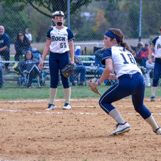 Ava Beal Makes the Play at First Base