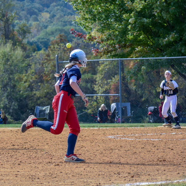 Helen Throws to Ava for the Out at First