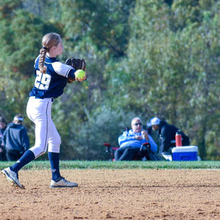 Katie Reed Throws to First Base