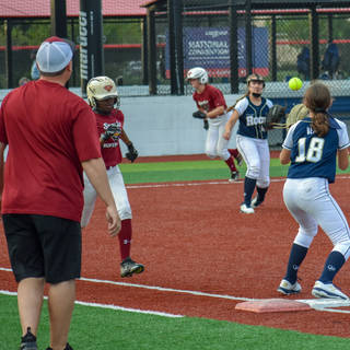 Abbey Throws to Ava for the Out at First