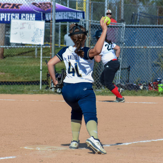 Abbey Valente Throws from Third Base