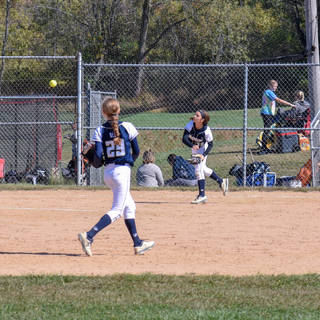 Alayna Giampolo Makes the Play at First