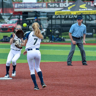 Helen Flips to Katie for the Out at Second