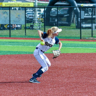 Helen Woloshyn Throws to First Base