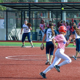 Abbey Throws to Kady for the Out