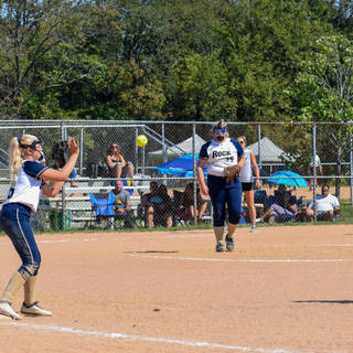 Helen Tosses to Emma for the Out