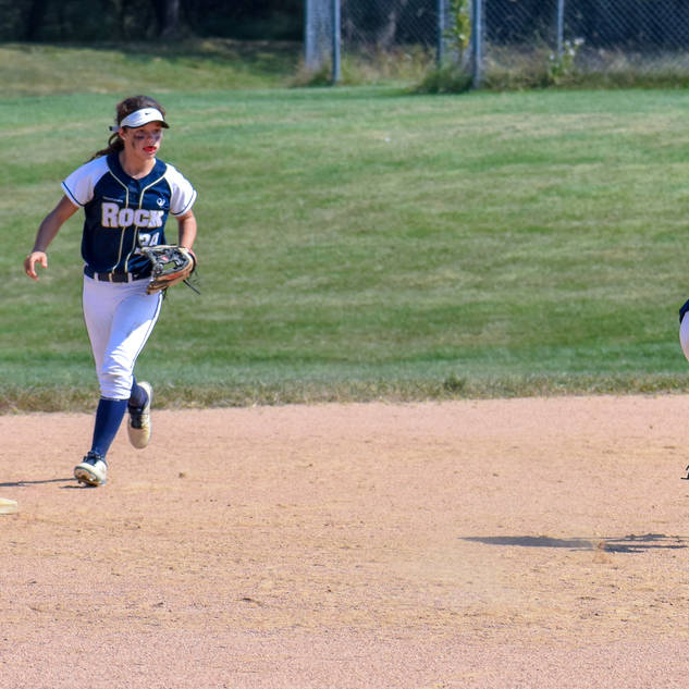 Helen and Alayna Go After a Grounder