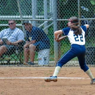 Jenna Playing Third Base