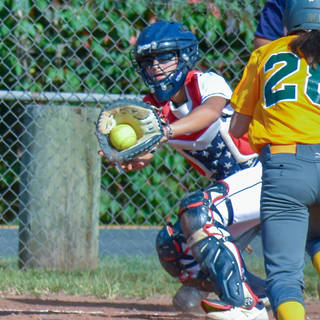 Ava Has a Play at the Plate