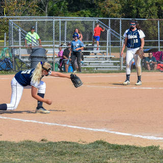 Emma Marchese Stretches to Make the Play