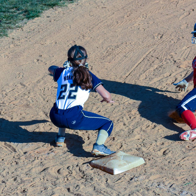 Jenna Morrison Ready for a Tag at Third