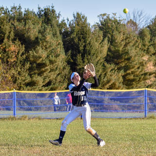 Ava Beal Catches a Fly Ball in Left Field