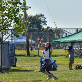 Katie Reed Catches a Shallow Fly Ball