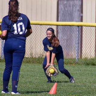 Alayna Giampolo Makes a Play on a Grounder