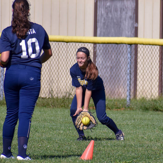 Alayna Giampolo Makes a Play on a Grounder