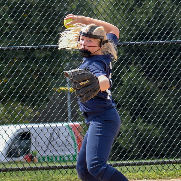 Emma Marchese Throws to First