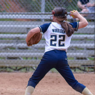 Jenna Makes a Throw from Third