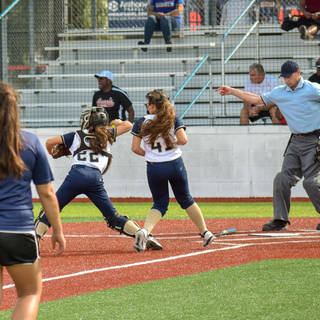 Jenna Morrison Gets the Bunt and Throws