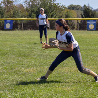 Ava Beal Stops a Ball in Right Field
