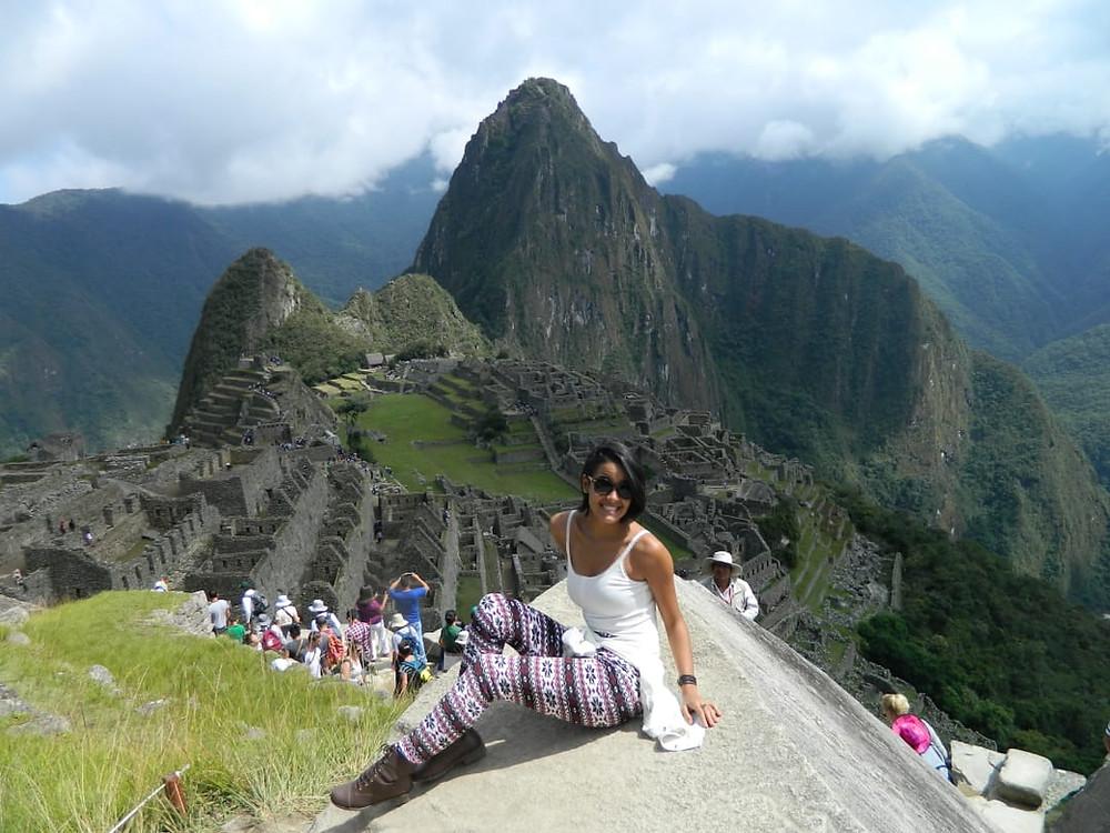 Foto: Layanne em seu intercâmbio voluntário no Peru | Fonte: Acervo Pessoal