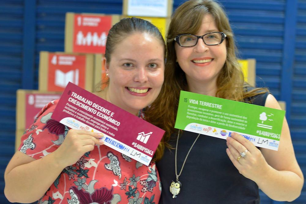 Tainah Veras e Tamara Guaraldo em ação da LM&Co. sobre as ODS | Fonte: LM&Co.