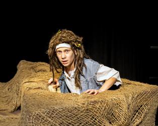 Brady Meyers as Ben Gunn in Treasure Island. Photo by Brandon James.