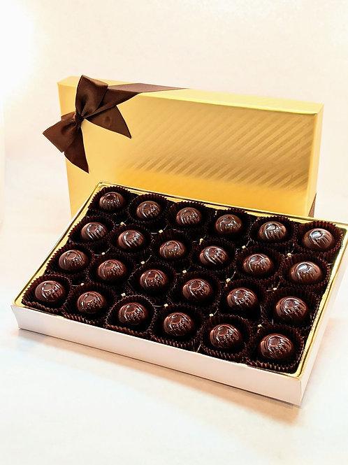 Vegan Organic. 24 Dark Chocolate Truffles/Bonbons