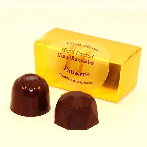 2 Dark Chocolate & Peppermint Truffles/Bonbons, Organic Vegan, 25 Boxes