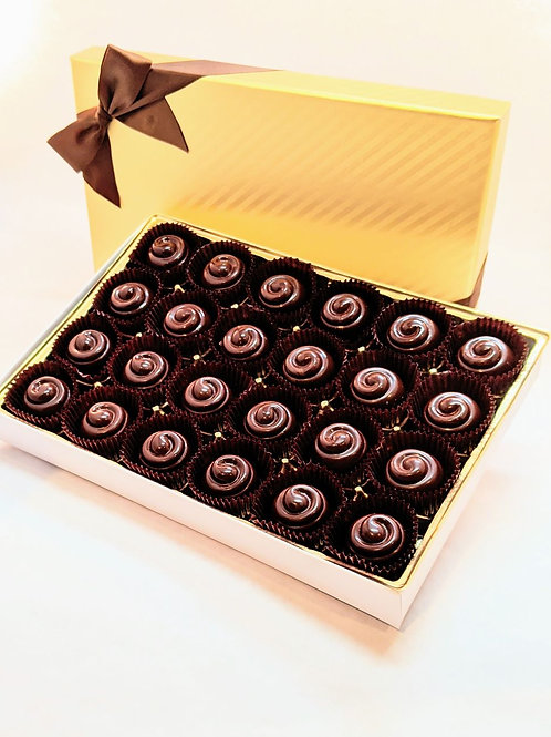 24 Classique Organic Creamy Hazelnut Truffles/Bonbons