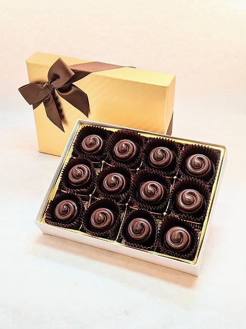 12 Classique Organic Creamy Hazelnut Truffles/Bonbons