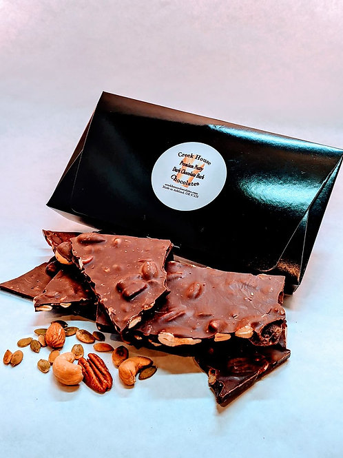 10 oz Premium Nutty Dark Chocolate Bark,  Organic