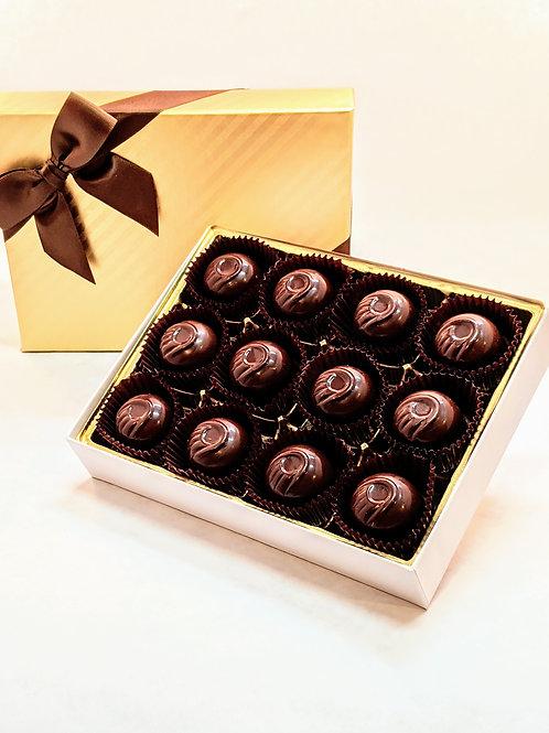 Vegan Organic. 12 Dark Chocolate Truffles/Bonbons